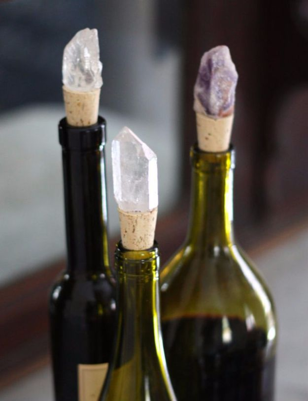 Cool Gifts to Make For Mom - DIY Jeweled Crystal Wine Stoppers - DIY Gift Ideas and Christmas Presents for Your Mother, Mother-In-Law, Grandma, Stepmom - Creative , Holiday Crafts and Cheap DIY Gifts for The Holidays - Thoughtful Homemade Spa Day Gifts, Creative Wall Art, Special Ideas for Her - Easy Xmas Gifts to Make With Step by Step Tutorials and Instructions http://diyjoy.com/cheap-holiday-gift-ideas-to-make