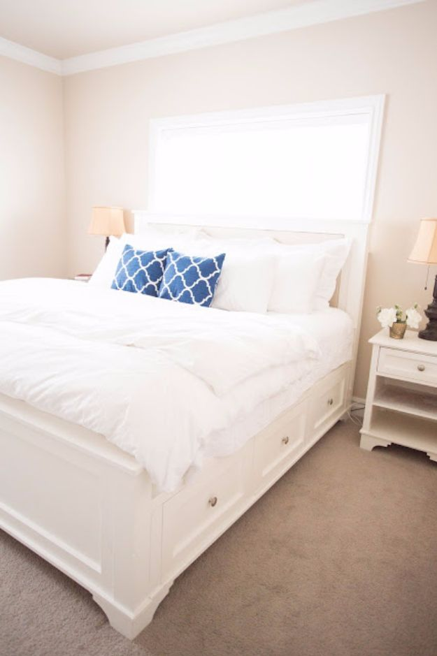 DIY Platform Beds - DIY King Sized Bed - Easy Do It Yourself Bed Projects - Step by Step Tutorials for Bedroom Furniture - Learn How To Make Twin, Full, King and Queen Size Platforms - With Headboard, Storage, Drawers, Made from Pallets - Cheap Ideas You Can Make on a Budget