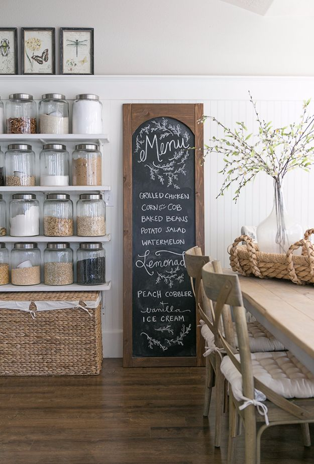 Cool Gifts to Make For Mom - DIY Menu Chalkboard - DIY Gift Ideas and Christmas Presents for Your Mother, Mother-In-Law, Grandma, Stepmom - Creative , Holiday Crafts and Cheap DIY Gifts for The Holidays - Thoughtful Homemade Spa Day Gifts, Creative Wall Art, Special Ideas for Her - Easy Xmas Gifts to Make With Step by Step Tutorials and Instructions #diygifts #mom