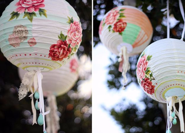 DIY Wedding Decor - DIY Paper Lanterns - Easy and Cheap Project Ideas with Things Found in Dollar Stores - Simple and Creative Backdrops for Receptions On A Budget - Rustic, Elegant, and Vintage Paper Ideas for Centerpieces, and Vases