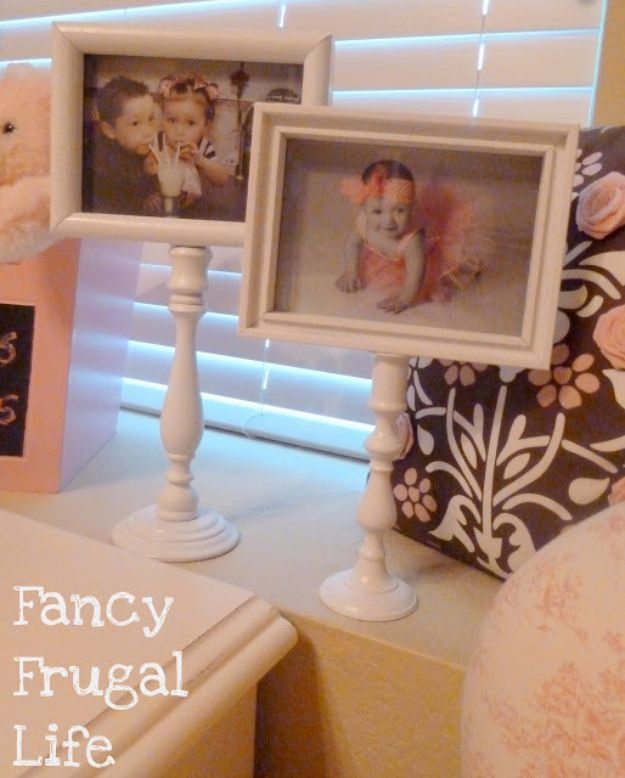DIY Ideas With Old Picture Frames - DIY Pedestal Picture Frame - Cool Crafts To Make With A Repurposed Picture Frame - Cheap Do It Yourself Gifts and Home Decor on A Budget - Fun Ideas for Decorating Your House and Room http://diyjoy.com/diy-ideas-picture-frames