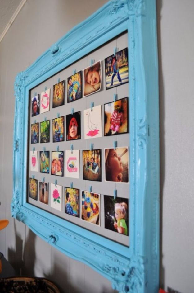 DIY Ideas With Old Picture Frames - DIY Photo Frame Of An Old Picture Frame - Cool Crafts To Make With A Repurposed Picture Frame - Cheap Do It Yourself Gifts and Home Decor on A Budget - Fun Ideas for Decorating Your House and Room http://diyjoy.com/diy-ideas-picture-frames