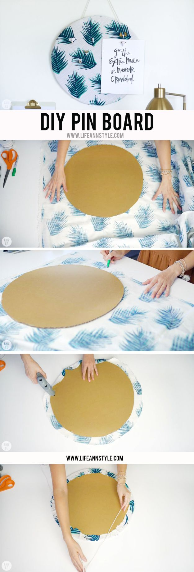 DIY Ideas With Cardboard - DIY Pin Board - How To Make Room Decor Crafts for Kids - Easy and Crafty Storage Ideas For Room - Toilet Paper Roll Projects Tutorials - Fun Furniture Ideas with Cardboard - Cheap, Quick and Easy Wall Decorations #diyideas #cardboardcrafts #crafts