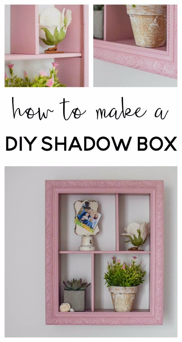 Cheap DIY Gifts and Inexpensive Homemade Christmas Gift Ideas for People on A Budget - DIY Shadow Box - To Make These Cool Presents Instead of Buying for the Holidays - Easy and Low Cost Gifts for Mom, Dad, Friends and Family - Quick Dollar Store Crafts and Projects for Xmas Gift Giving #gifts #diy
