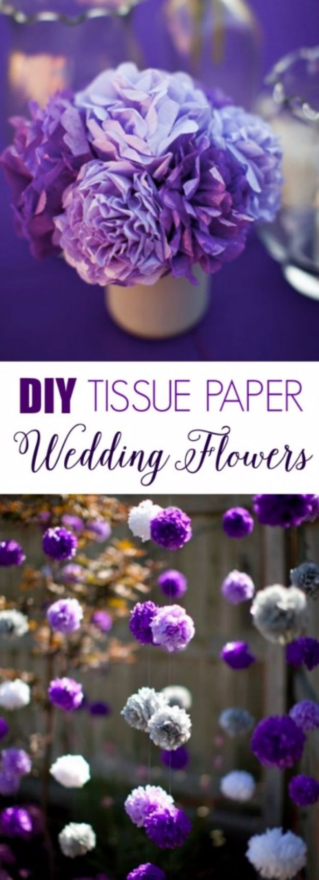 DIY Wedding Decor - DIY Tissue Paper Flowers - Easy and Cheap Project Ideas with Things Found in Dollar Stores - Simple and Creative Backdrops for Receptions On A Budget - Rustic, Elegant, and Vintage Paper Ideas for Centerpieces, and Vases