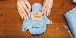 She Cuts Up Some Old Jeans And Creates An Item That Is Cute, Clever And Stylish. Watch!