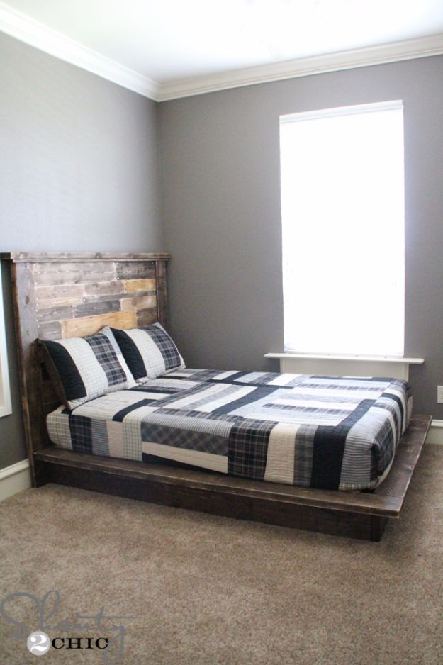 DIY Platform Beds - Easy DIY Platform Bed - Easy Do It Yourself Bed Projects - Step by Step Tutorials for Bedroom Furniture - Learn How To Make Twin, Full, King and Queen Size Platforms - With Headboard, Storage, Drawers, Made from Pallets - Cheap Ideas You Can Make on a Budget