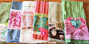 She Embellishes Regular Kitchen Towels And They're So Cute You'll Have To Do This!
