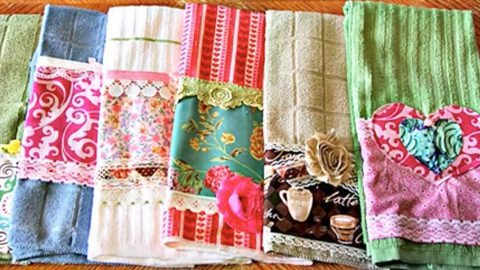 She Embellishes Regular Kitchen Towels And They Re So Cute You Ll