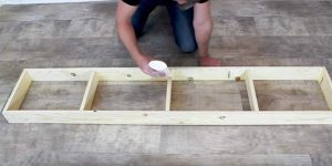 He Nails Boards Into A Long Narrow Rectangle Creating A $20 Farmhouse Item You'll Love!
