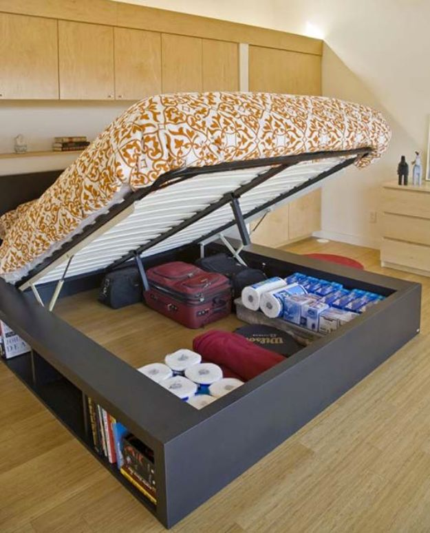 DIY Platform Beds - Free Platform Bed Plans With Drawers - Easy Do It Yourself Bed Projects - Step by Step Tutorials for Bedroom Furniture - Learn How To Make Twin, Full, King and Queen Size Platforms - With Headboard, Storage, Drawers, Made from Pallets - Cheap Ideas You Can Make on a Budget