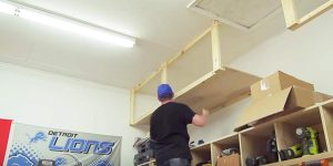 Watch How He Builds Extra Storage In The Wasted Space In His Garage!