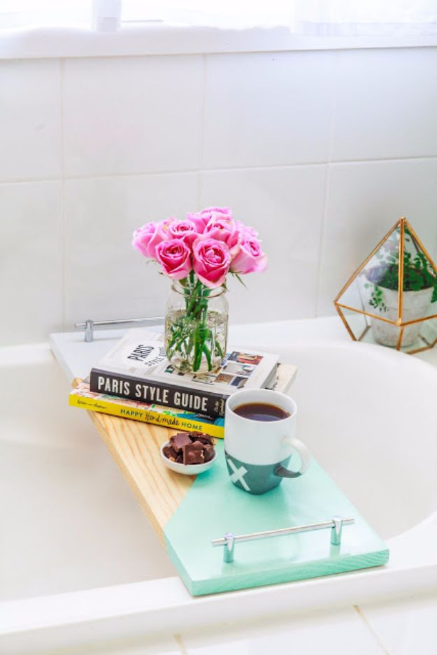 Cheap DIY Gifts and Inexpensive Homemade Christmas Gift Ideas for People on A Budget - Geometric Bath Shelf - To Make These Cool Presents Instead of Buying for the Holidays - Easy and Low Cost Gifts for Mom, Dad, Friends and Family - Quick Dollar Store Crafts and Projects for Xmas Gift Giving #gifts #diy