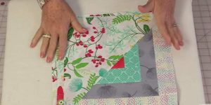 Piece A Half Of A Log Cabin Pattern And Half Of A Triangle To Make This Quilt