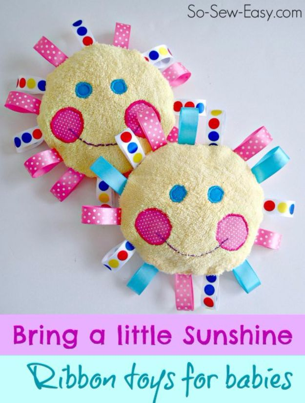 DIY Ideas With Old Towels - Handmade Baby Toys - Cool Crafts To Make With An Old Towel - Cheap Do It Yourself Gifts and Home Decor on A Budget - Creative But Cheap Ideas for Decorating Your House and Room - Upcycle Those Towels Instead of Throwing Them Away! http://diyjoy.com/diy-ideas-old-towels