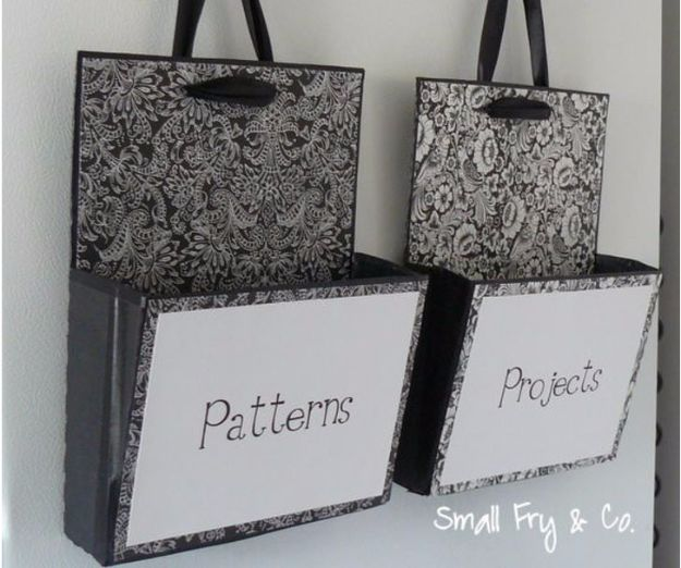 DIY Ideas With Cardboard - Hanging File Boxes Repurposed from Cardboard Crates - How To Make Room Decor Crafts for Kids - Easy and Crafty Storage Ideas For Room - Toilet Paper Roll Projects Tutorials - Fun Furniture Ideas with Cardboard - Cheap, Quick and Easy Wall Decorations http://diyjoy.com/diy-ideas-cardboard