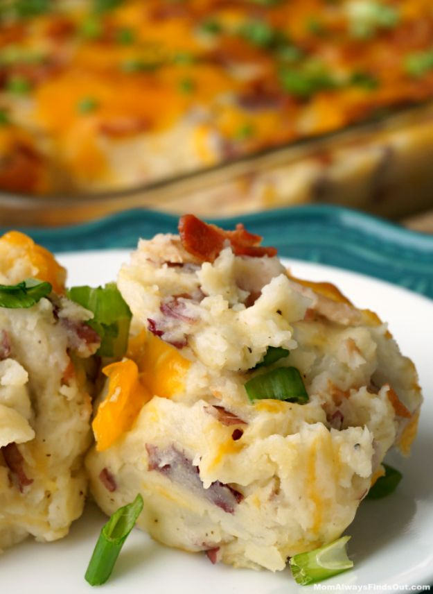 Potato Recipes - Loaded Baked Potato Casserole - Easy, Quick and Healthy Potato Recipes - How To Make Roasted, In Oven, Fried, Mashed and Red Potatoes - Easy Potato Side Dishes and Soup Recipe Ideas for Dinner, Breakfast, Lunch, Appetizer and Snack http://diyjoy.com/potato-recipes