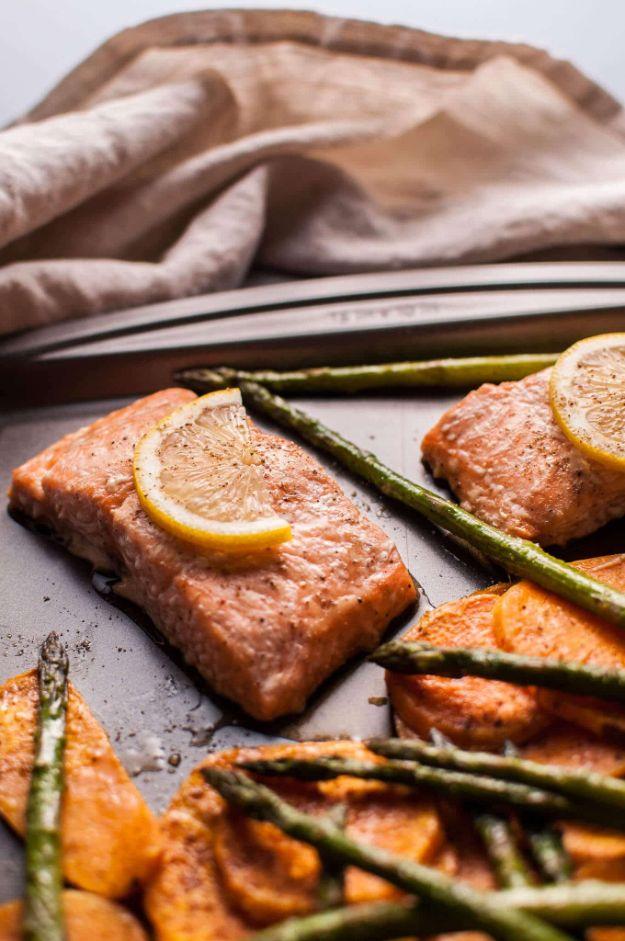 Best Fall Recipes and Ideas for Dinner - Maple Salmon Sheet Pan Dinner - Quick Meals With Chicken, Beef and Fish, Easy Crockpot Meals and Make Ahead Soups and Dinners - Healthy Dinner Recipes and Fast Last Minute Foods With Spinach, Vegetables, Butternut Squash, Pumpkin and Nuts