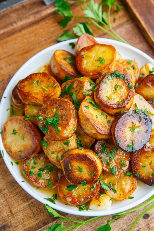 Potato Recipes - Melting Potatoes - Easy, Quick and Healthy Potato Recipes - How To Make Roasted, In Oven, Fried, Mashed and Red Potatoes - Easy Potato Side Dishes and Soup Recipe Ideas for Dinner, Breakfast, Lunch, Appetizer and Snack http://diyjoy.com/potato-recipes