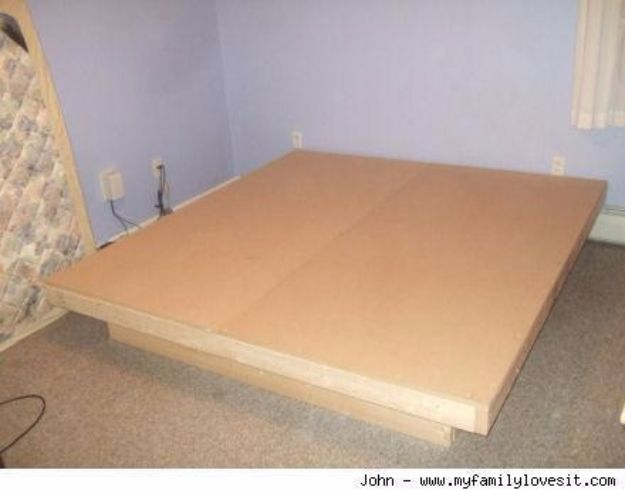 DIY Platform Beds - Modern Platform Bed for Under $100 - Easy Do It Yourself Bed Projects - Step by Step Tutorials for Bedroom Furniture - Learn How To Make Twin, Full, King and Queen Size Platforms - With Headboard, Storage, Drawers, Made from Pallets - Cheap Ideas You Can Make on a Budget http://diyjoy.com/diy-platform-beds