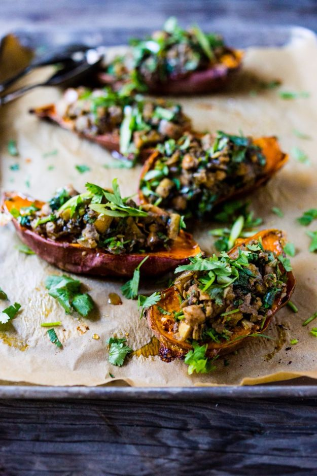 Best Fall Recipes and Ideas for Dinner - Moroccan Stuffed Sweet Potatoes - Quick Meals With Chicken, Beef and Fish, Easy Crockpot Meals and Make Ahead Soups and Dinners - Healthy Dinner Recipes and Fast Last Minute Foods With Spinach, Vegetables, Butternut Squash, Pumpkin and Nuts