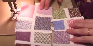 She Cuts Up Small Squares And Places Them Like A Mosaic Creating A Unique Quilt!