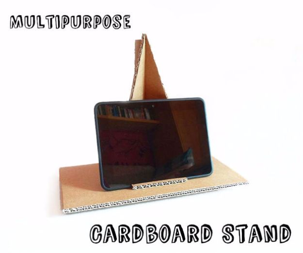 DIY Ideas With Cardboard - Multipurpose Cardboard Stand - How To Make Room Decor Crafts for Kids - Easy and Crafty Storage Ideas For Room - Toilet Paper Roll Projects Tutorials - Fun Furniture Ideas with Cardboard - Cheap, Quick and Easy Wall Decorations #diyideas #cardboardcrafts #crafts