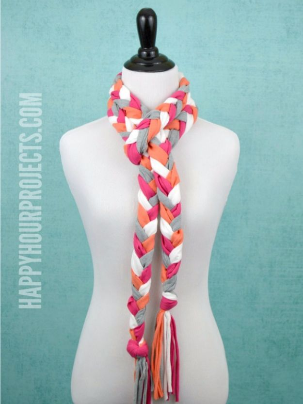 Cool Gifts to Make For Mom - No Sew Braided Tassel Scarf - DIY Gift Ideas and Christmas Presents for Your Mother, Mother-In-Law, Grandma, Stepmom - Creative , Holiday Crafts and Cheap DIY Gifts for The Holidays - Thoughtful Homemade Spa Day Gifts, Creative Wall Art, Special Ideas for Her - Easy Xmas Gifts to Make With Step by Step Tutorials and Instructions #diygifts #mom