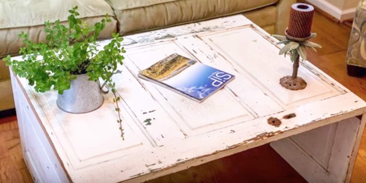 Watch How Easily He Takes An Old Door And Turns It Into Awesome Coffee Table