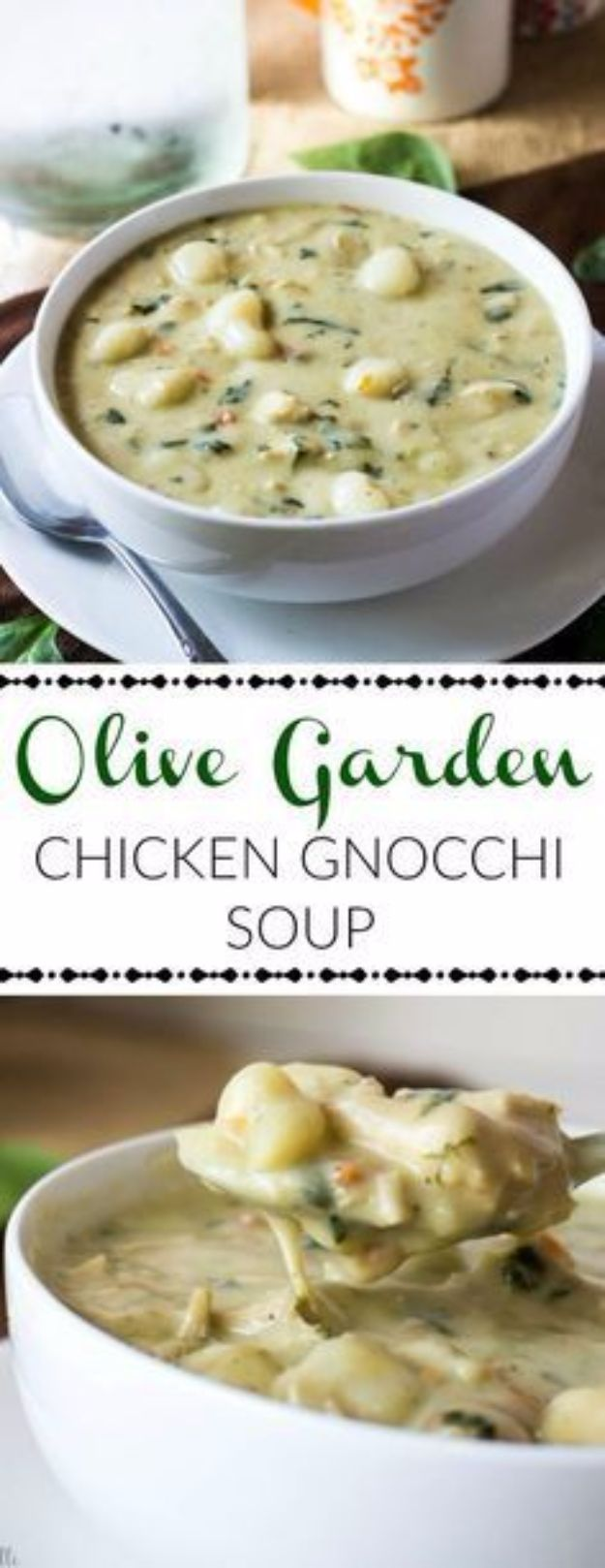Best Fall Recipes and Ideas for Dinner - Olive Garden Chicken Gnocchi Soup - Quick Meals With Chicken, Beef and Fish, Easy Crockpot Meals and Make Ahead Soups and Dinners - Healthy Dinner Recipes and Fast Last Minute Foods With Spinach, Vegetables, Butternut Squash, Pumpkin and Nuts