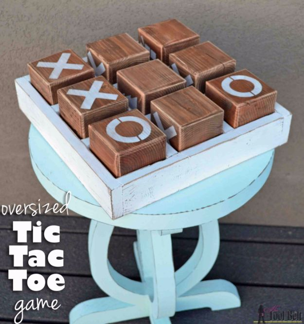 Cool Gifts to Make For Mom - Oversized Tic Tac Toe Game - DIY Gift Ideas and Christmas Presents for Your Mother, Mother-In-Law, Grandma, Stepmom - Creative , Holiday Crafts and Cheap DIY Gifts for The Holidays - Thoughtful Homemade Spa Day Gifts, Creative Wall Art, Special Ideas for Her - Easy Xmas Gifts to Make With Step by Step Tutorials and Instructions #diygifts #mom