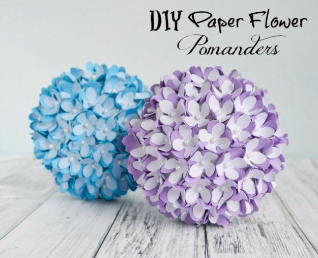 DIY Paper Flowers - Paper Flower Pomander - How To Make A Paper Flower - Large Wedding Backdrop for Wall Decor - Easy Tissue Paper Flower Tutorial for Kids - Giant Projects for Photo Backdrops - Daisy, Roses, Bouquets, Centerpieces - Cricut Template and Step by Step Tutorial