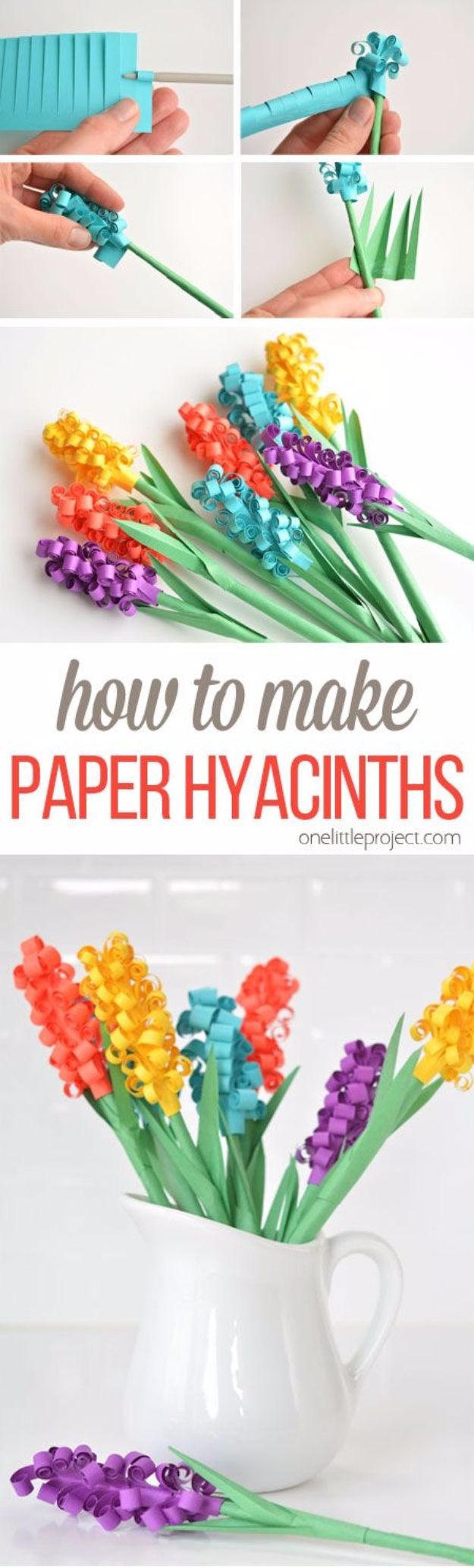 DIY Paper Flowers - Paper Hyacinth Flowers - How To Make A Paper Flower - Large Wedding Backdrop for Wall Decor - Easy Tissue Paper Flower Tutorial for Kids - Giant Projects for Photo Backdrops - Daisy, Roses, Bouquets, Centerpieces - Cricut Template and Step by Step Tutorial