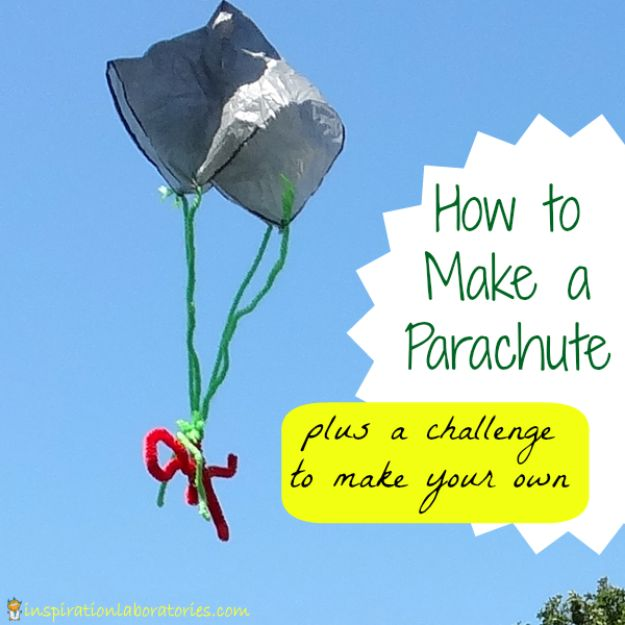 DIY Ideas With Plastic Bags - Parachute Plastic Bag Kids Toy - How To Make Fun Upcycling Ideas and Crafts - Awesome Storage Projects Using Recycling - Coolest Craft Projects, Life Hacks and Ways To Upcycle a Plastic Bag #recycling #upcycling #crafts #diyideas