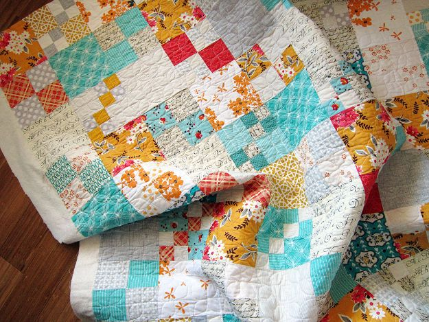 Best Quilts to Make This Weekend - Penny Patch Quilt - Free Quilt Patterns and Quilting Tutorials - Quilting for Beginners and Sewing Ideas - DIY Baby Quilts, Printables, New and Easy Modern Quilts, Jelly Roll, Quilt Squares, Fat Quarters and Scrap Ideas #diy #quilting #sewing