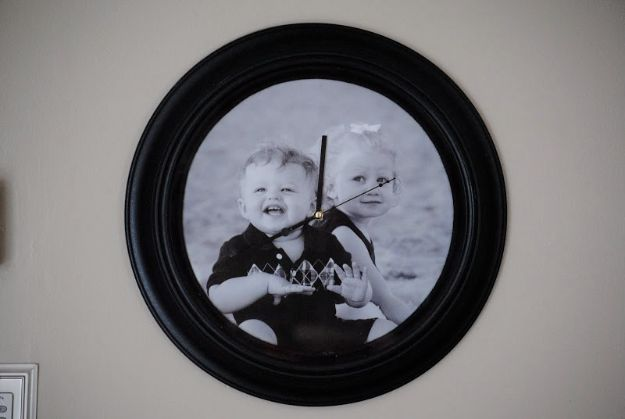 Cool Gifts to Make For Mom - Photo Backed Clock - DIY Gift Ideas and Christmas Presents for Your Mother, Mother-In-Law, Grandma, Stepmom - Creative , Holiday Crafts and Cheap DIY Gifts for The Holidays - Thoughtful Homemade Spa Day Gifts, Creative Wall Art, Special Ideas for Her - Easy Xmas Gifts to Make With Step by Step Tutorials and Instructions #diygifts #mom