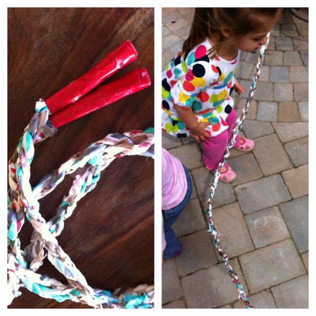 DIY Ideas With Plastic Bags - Plastic Bag Jump Rope - How To Make Fun Upcycling Ideas and Crafts - Awesome Storage Projects Using Recycling - Coolest Craft Projects, Life Hacks and Ways To Upcycle a Plastic Bag #recycling #upcycling #crafts #diyideas