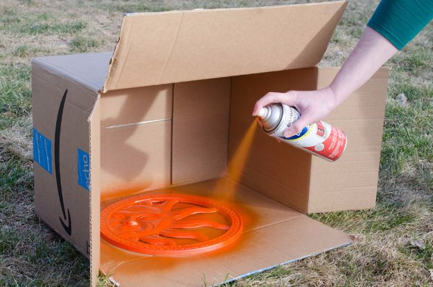 DIY Ideas With Cardboard - Prevent Overspray With Cardboard - How To Make Room Decor Crafts for Kids - Easy and Crafty Storage Ideas For Room - Toilet Paper Roll Projects Tutorials - Fun Furniture Ideas with Cardboard - Cheap, Quick and Easy Wall Decorations http://diyjoy.com/diy-ideas-cardboard