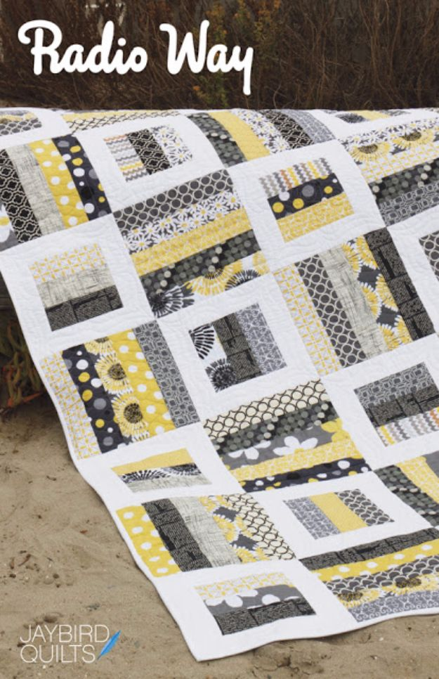 Best Quilts to Make This Weekend - Radio Way Quilt - Free Quilt Patterns and Quilting Tutorials - Quilting for Beginners and Sewing Ideas - DIY Baby Quilts, Printables, New and Easy Modern Quilts, Jelly Roll, Quilt Squares, Fat Quarters and Scrap Ideas #diy #quilting #sewing