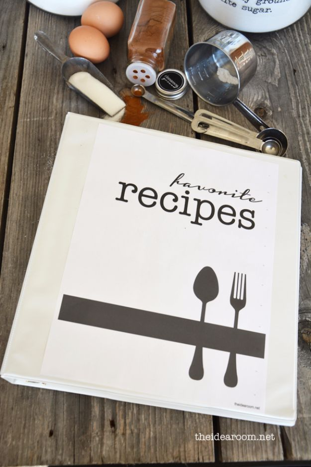 Last Minute Christmas Gifts - Recipe Book Printables - Quick DIY Gift Ideas and Easy Christmas Presents To Make for Mom, Dad, Family and Friends - Dollar Store Crafts and Cheap Homemade Gifts