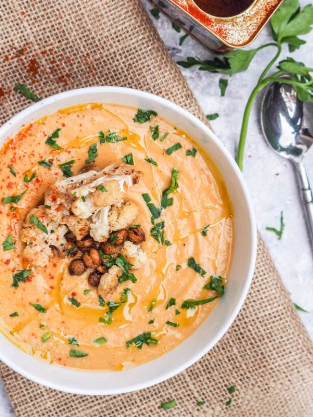 Best Fall Recipes and Ideas for Dinner - Roasted Cauliflower Soup - Quick Meals With Chicken, Beef and Fish, Easy Crockpot Meals and Make Ahead Soups and Dinners - Healthy Dinner Recipes and Fast Last Minute Foods With Spinach, Vegetables, Butternut Squash, Pumpkin and Nuts
