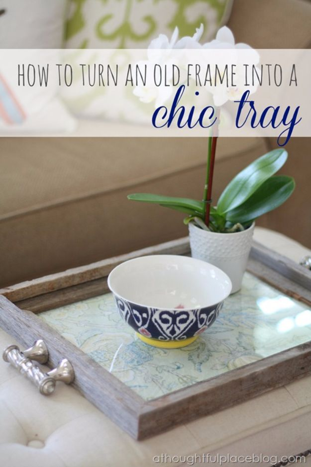 Cool Gifts to Make For Mom - Rustic Chic Tray - DIY Gift Ideas and Christmas Presents for Your Mother, Mother-In-Law, Grandma, Stepmom - Creative , Holiday Crafts and Cheap DIY Gifts for The Holidays - Thoughtful Homemade Spa Day Gifts, Creative Wall Art, Special Ideas for Her - Easy Xmas Gifts to Make With Step by Step Tutorials and Instructions #diygifts #mom