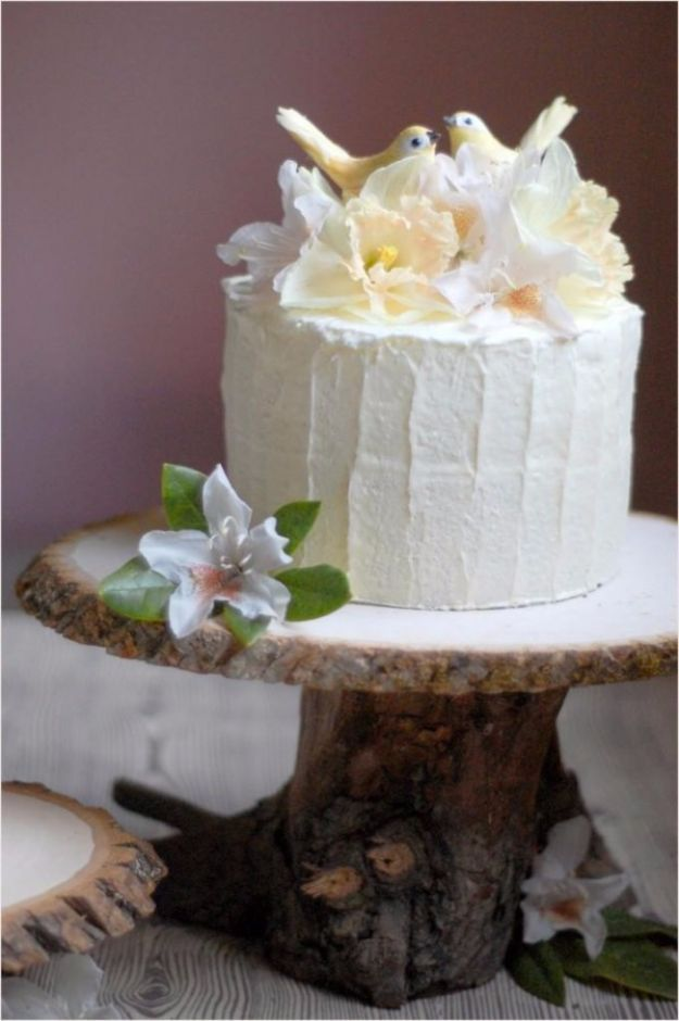 DIY Wedding Decor - Rustic Wedding Cake Stand - Easy and Cheap Project Ideas with Things Found in Dollar Stores - Simple and Creative Backdrops for Receptions On A Budget - Rustic, Elegant, and Vintage Paper Ideas for Centerpieces, and Vases