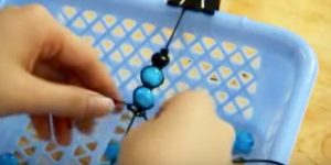 She Uses A Cool Technique To Tie Knots And Beads, Making An Item That You'll Love!