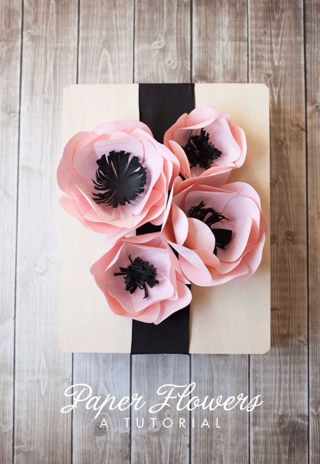 DIY Paper Flowers - Simple Paper Flowers - How To Make A Paper Flower - Large Wedding Backdrop for Wall Decor - Easy Tissue Paper Flower Tutorial for Kids - Giant Projects for Photo Backdrops - Daisy, Roses, Bouquets, Centerpieces - Cricut Template and Step by Step Tutorial