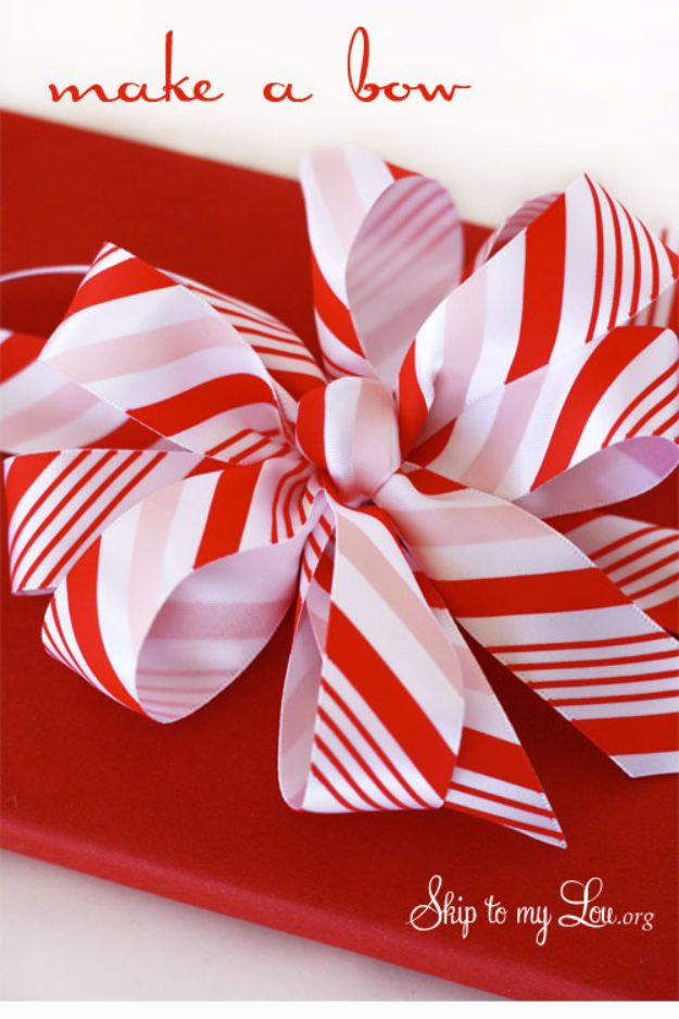 How To Tie A Christmas Bow.50 Creative Bows To Make For Your Christmas Packages