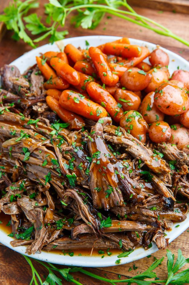 Best Fall Recipes and Ideas for Dinner - Slow Cooker Balsamic Glazed Roast Beef - Quick Meals With Chicken, Beef and Fish, Easy Crockpot Meals and Make Ahead Soups and Dinners - Healthy Dinner Recipes and Fast Last Minute Foods With Spinach, Vegetables, Butternut Squash, Pumpkin and Nuts