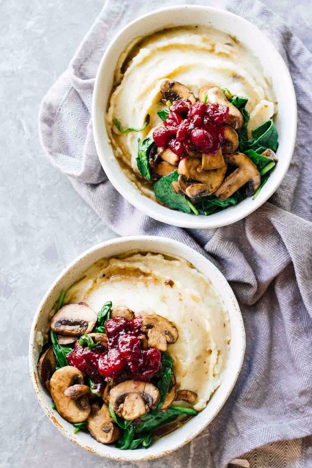 Best Fall Recipes and Ideas for Dinner - Slow Cooker Mashed Potatoes And Cranberry Mushroom Sauce - Quick Meals With Chicken, Beef and Fish, Easy Crockpot Meals and Make Ahead Soups and Dinners - Healthy Dinner Recipes and Fast Last Minute Foods With Spinach, Vegetables, Butternut Squash, Pumpkin and Nuts