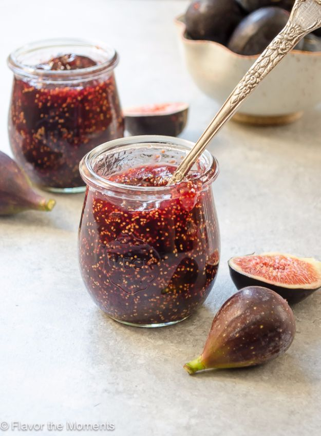 Best Jam and Jelly Recipes - Small Batch Fig Honey Jam - Homemade Recipe Ideas For Canning - Easy and Unique Jams and Jellies Made With Strawberry, Raspberry, Blackberry, Peach and Fruit - Healthy, Sugar Free, No Pectin, Small Batch, Savory and Freezer Recipes http://diyjoy.com/jam-jelly-recipes