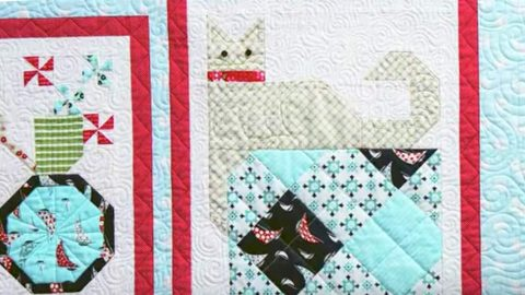 She Pieces A Cat Into This Amazing Quilt Block And Adds Other Exciting Blocks! | DIY Joy Projects and Crafts Ideas